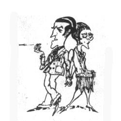 Dame Celia Molestrangler and Binkie Huckaback