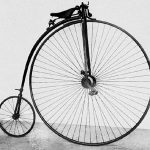The aptly named penny farthing