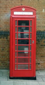 K6 Jubilee Telephone Kiosk next to the Library building