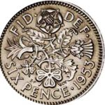 Sixpence piece - the tanner