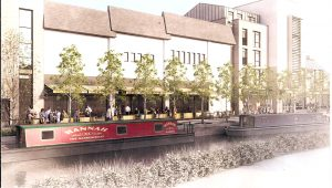 Waitrose from river as proposed 2016