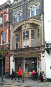 Talbot Arms inscribed in balcony